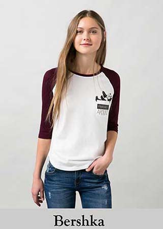 new product 72a1d 2725a T-shirts Bershka inverno 2016 donna e ragazza