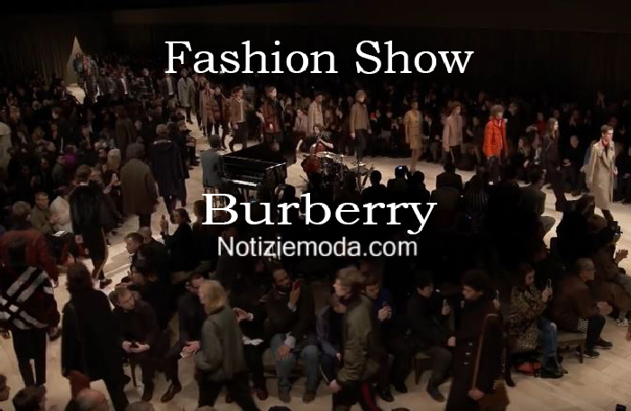 Sfilata Burberry autunno inverno 2016 2017 uomo