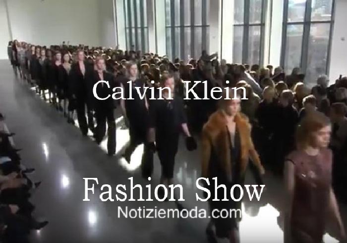 Sfilata Calvin Klein autunno inverno 2016 2017 donna