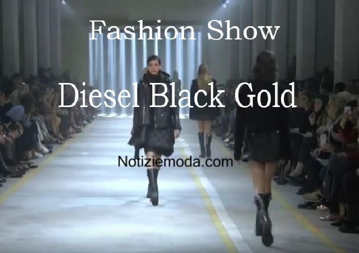 Sfilata Diesel Black Gold autunno inverno 2016 2017 donna