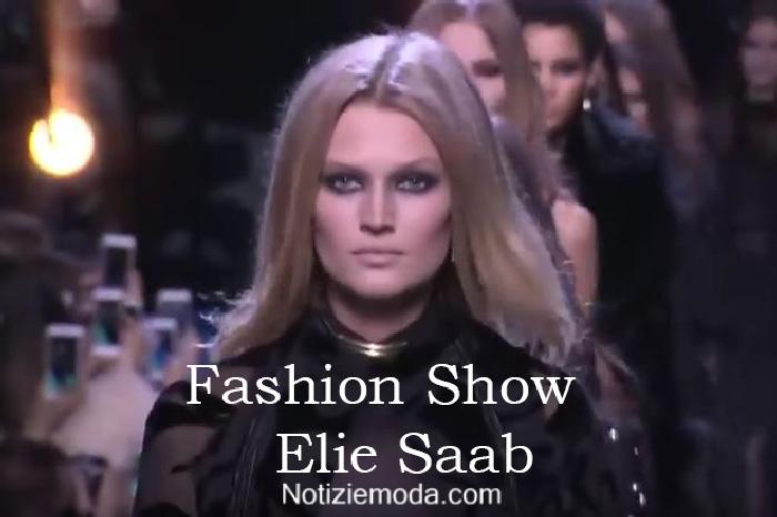 Sfilata Elie Saab autunno inverno 2016 2017 donna