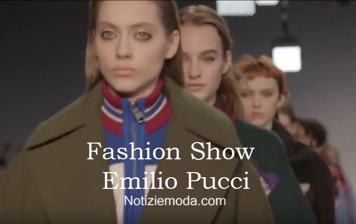 Sfilata Emilio Pucci autunno inverno 2016 2017 donna
