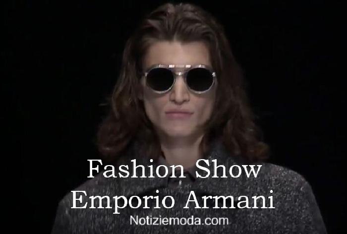 Sfilata Emporio Armani autunno inverno 2016 2017 uomo