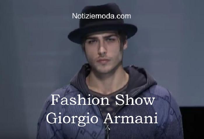 Sfilata Giorgio Armani autunno inverno 2016 2017 uomo