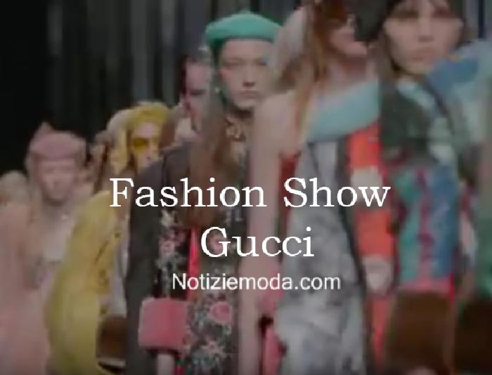 Sfilata Gucci autunno inverno 2016 2017 donna