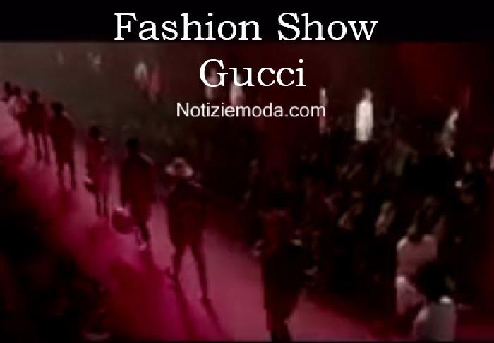 Sfilata Gucci autunno inverno 2016 2017 uomo