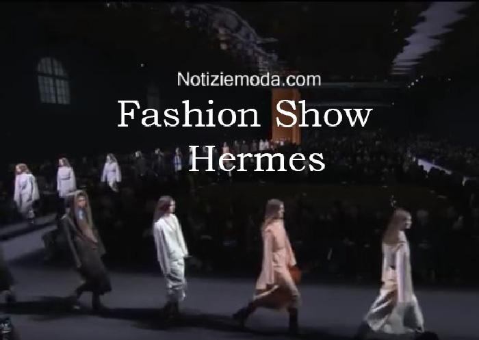 Sfilata Hermes autunno inverno 2016 2017 donna