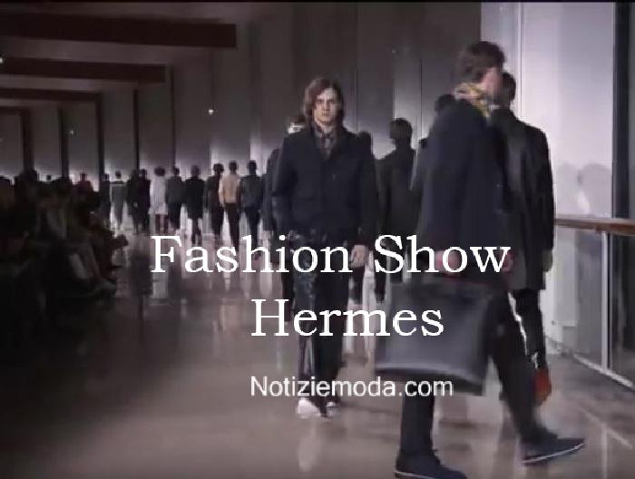 Sfilata Hermes autunno inverno 2016 2017 uomo