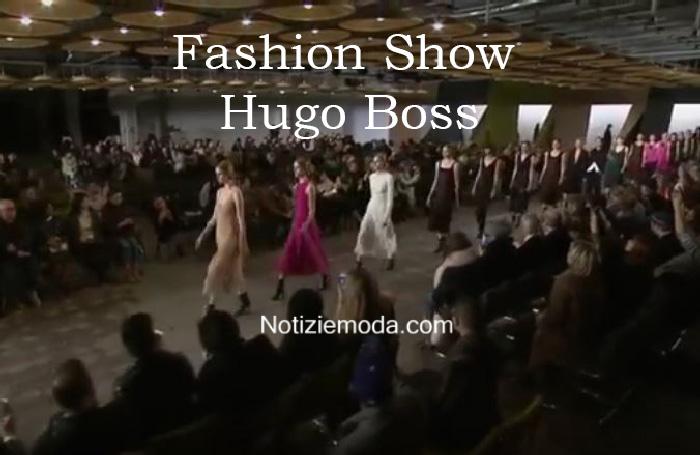 Sfilata Hugo Boss autunno inverno 2016 2017 donna