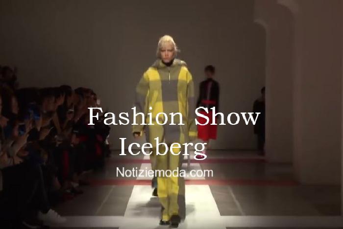 Sfilata Iceberg autunno inverno 2016 2017 donna
