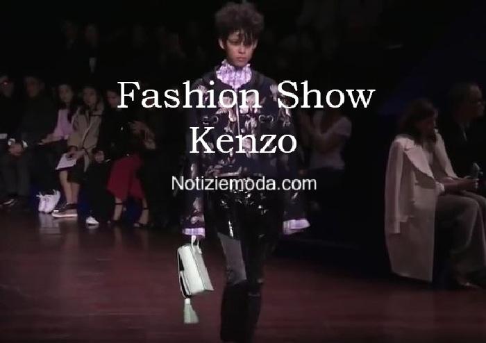 Sfilata Kenzo autunno inverno 2016 2017 donna