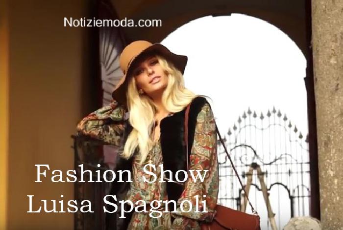 Sfilata Luisa Spagnoli autunno inverno 2016 2017 donna