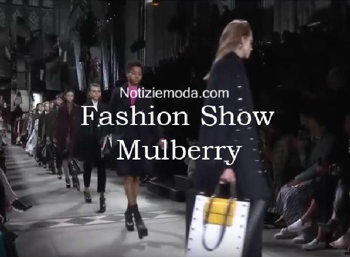 Sfilata Mulberry autunno inverno 2016 2017 donna