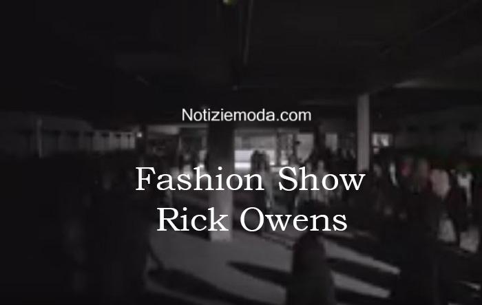 Sfilata Rick Owens autunno inverno 2016 2017 donna