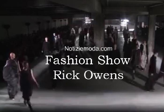 Sfilata Rick Owens autunno inverno 2016 2017 uomo