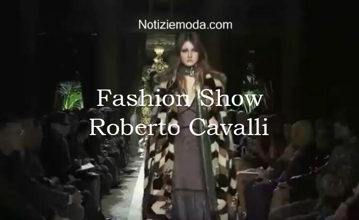 Sfilata Roberto Cavalli autunno inverno 2016 2017 donna