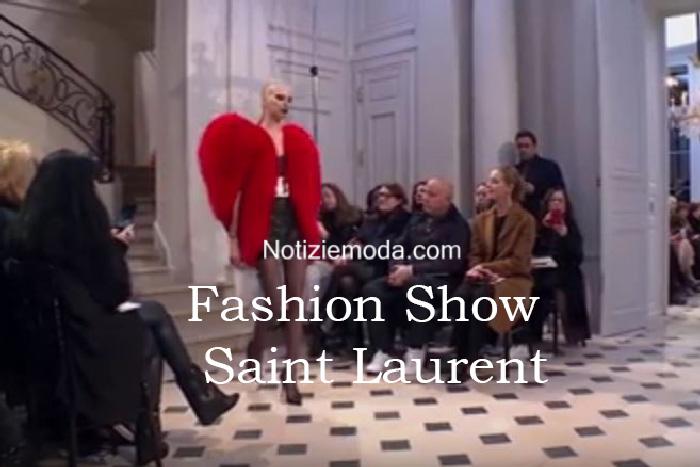 Sfilata Saint Laurent autunno inverno 2016 2017 donna