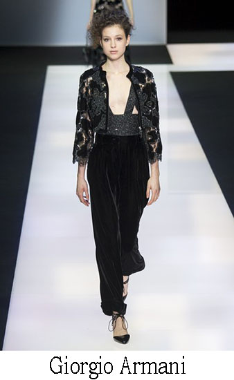 Giorgio Armani Autunno Inverno 2016 2017 Donna Look 51