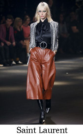Saint Laurent Autunno Inverno 2016 2017 Donna Look 11