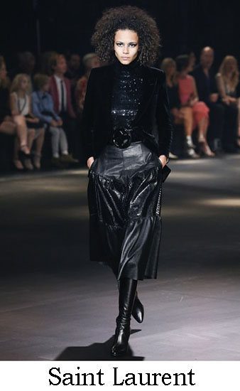 Saint Laurent Autunno Inverno 2016 2017 Donna Look 14