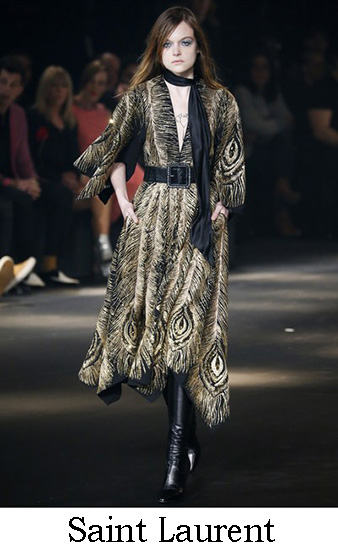 Saint Laurent Autunno Inverno 2016 2017 Donna Look 18