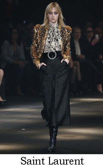 Saint Laurent Autunno Inverno 2016 2017 Donna Look 2