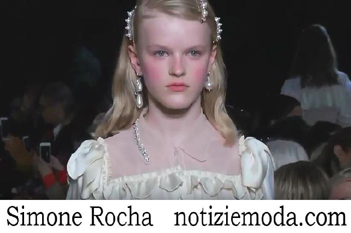 Sfilata Simone Rocha Donna Primavera Estate 2018
