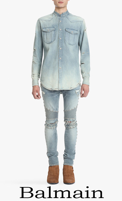 Balmain Primavera Estate 2018 Jeans Uomo