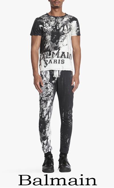 Balmain Primavera Estate 2018 T Shirts Uomo