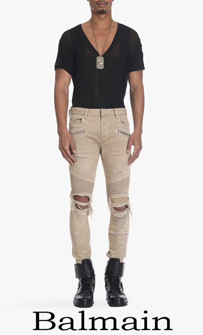Jeans Balmain 2018 Nuovi Arrivi Moda Uomo