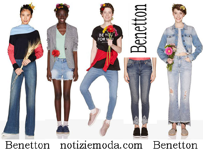 Jeans Benetton Primavera Estate Denim Donna