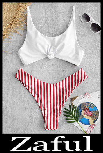 Contrast BikiniZAFUL Contrast Striped Knot Bikini Set