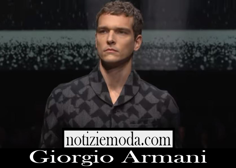 Sfilata Giorgio Armani uomo A I 2020 21 nuovi arrivi